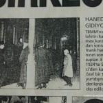 Hanedan Halife Abdülmecidin gidisi, gazete küpürü