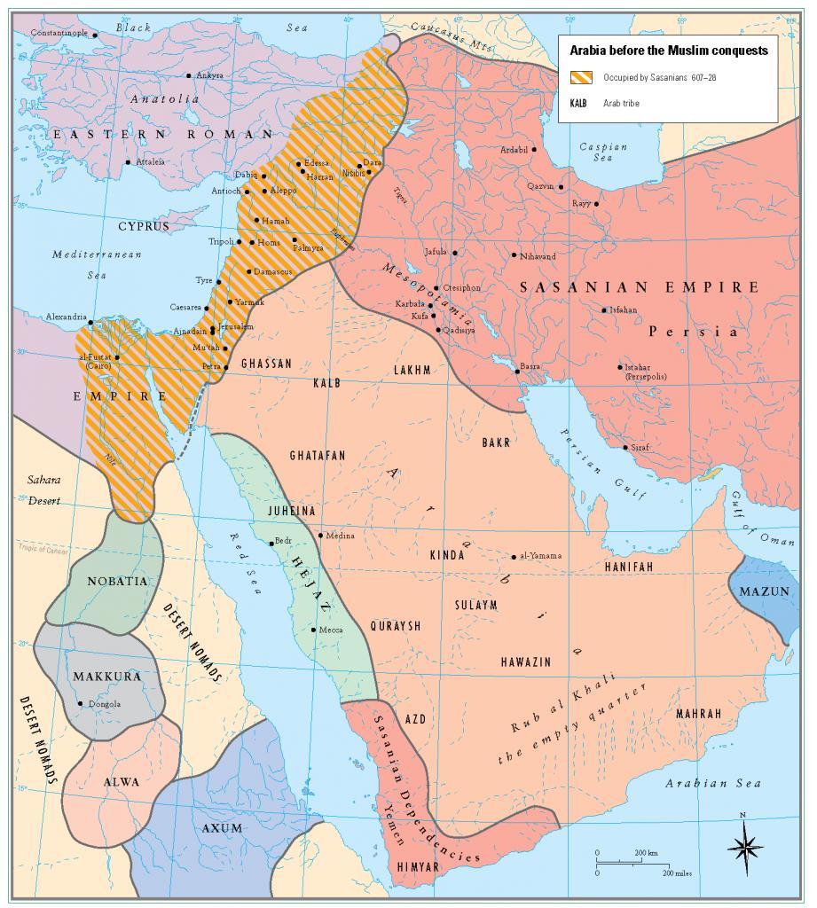 1- islam fetihlerinden once Arabistan