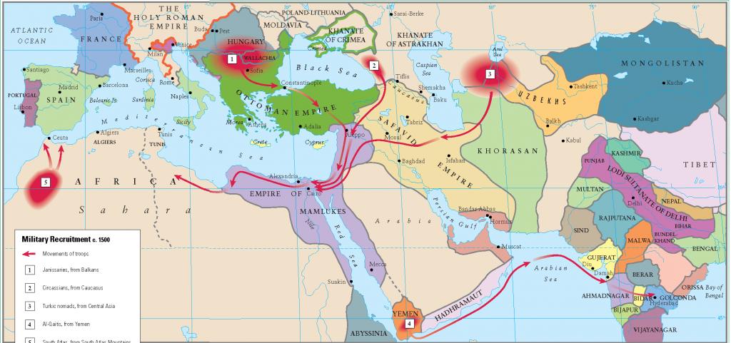 14- 1500 de askeri merkezler