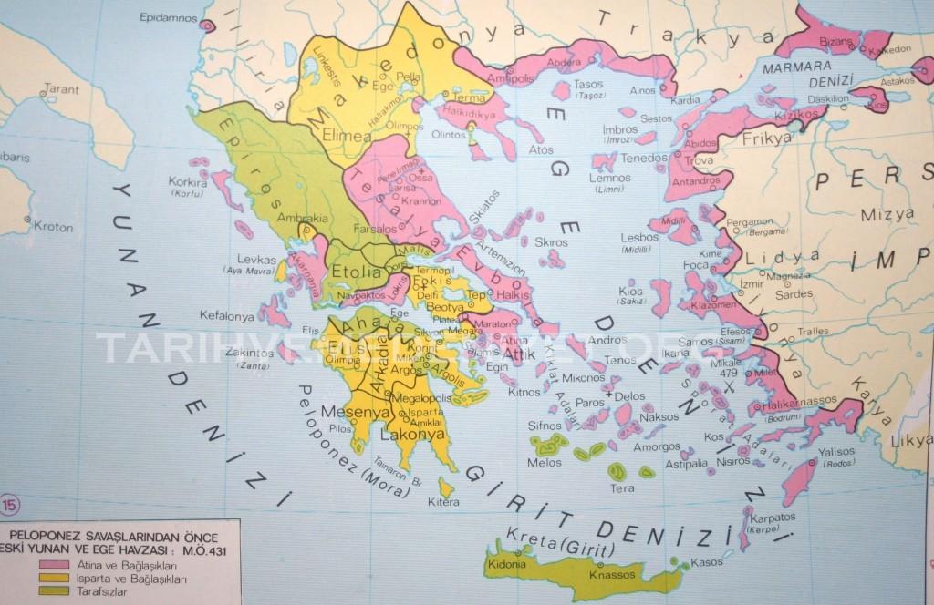 14Harita Pelopones Savaslari Oncesi Eski Yunan ve Ege Havzasi