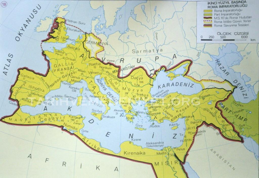17harita ikinci yuzyil basinda Roma