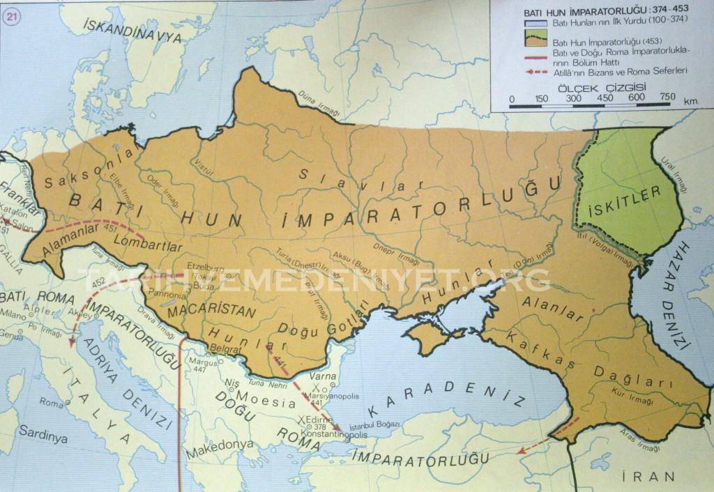 20Harita Bati Hun imparatorlugu 373-453