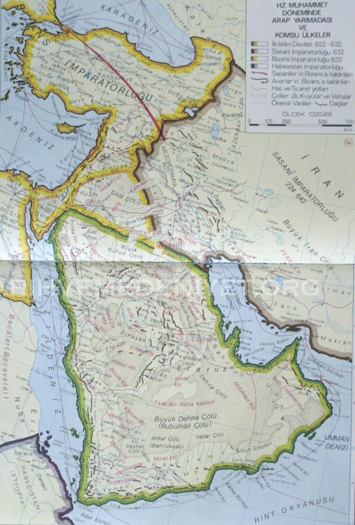 23Harita Hazreti Peygamber Donemi Arap Yarimadasi ve Komsu Ulkeler