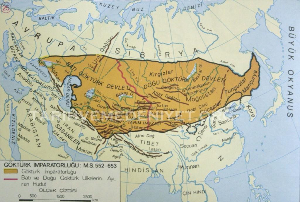 24Harita Gokturk imparatorlugu ms 552-653