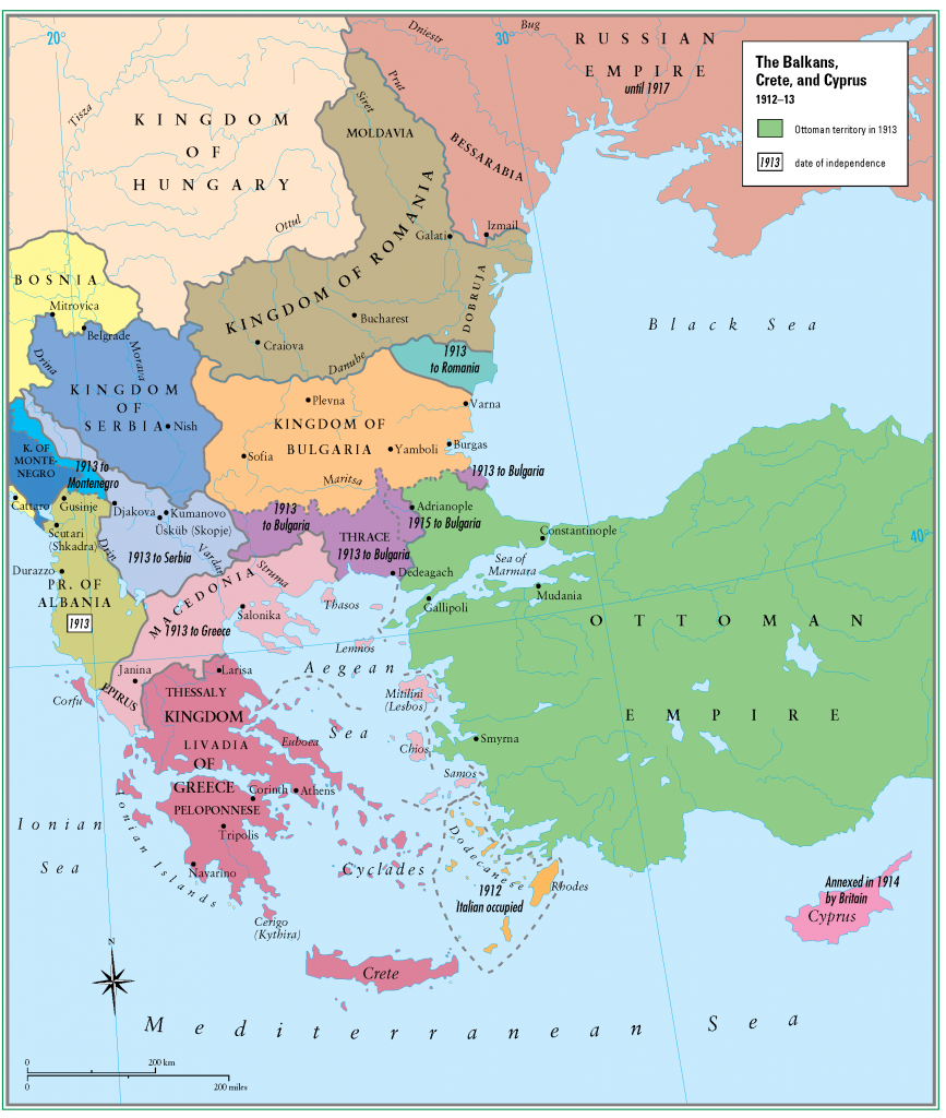 28- 1912 - 1913 Balkanlar Girit ve Kibris