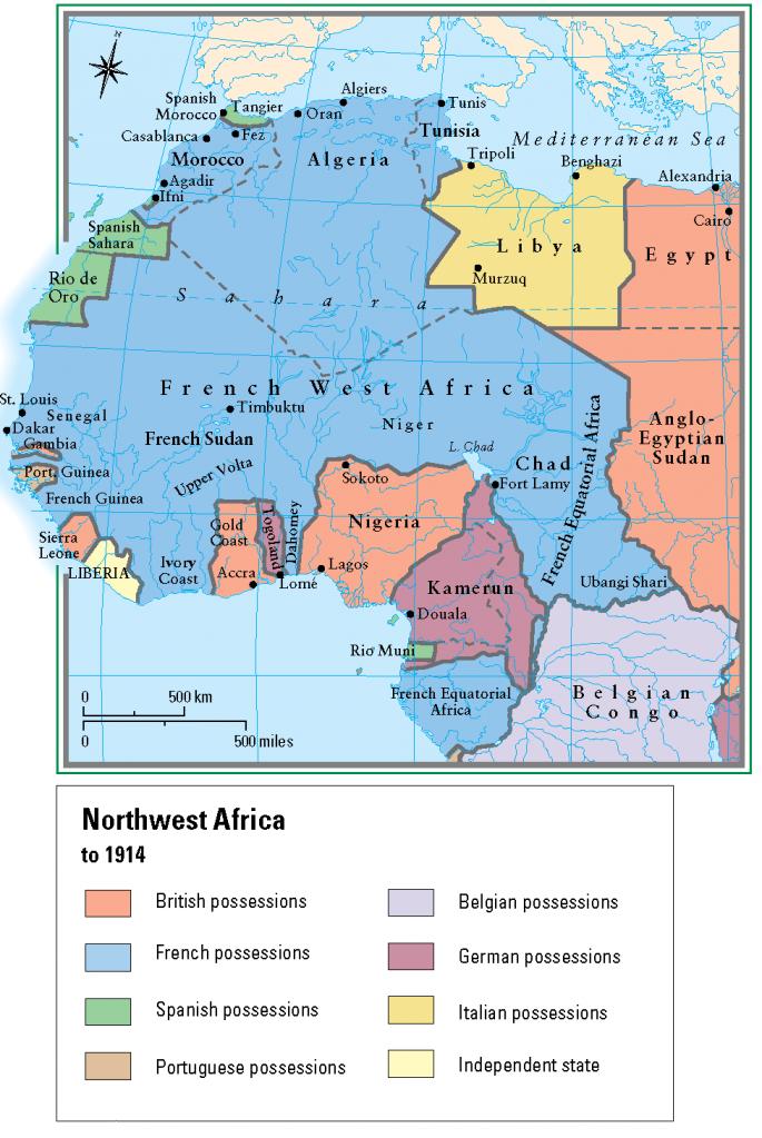 29- Kuzeybati Afrika Avrupali somurgeler