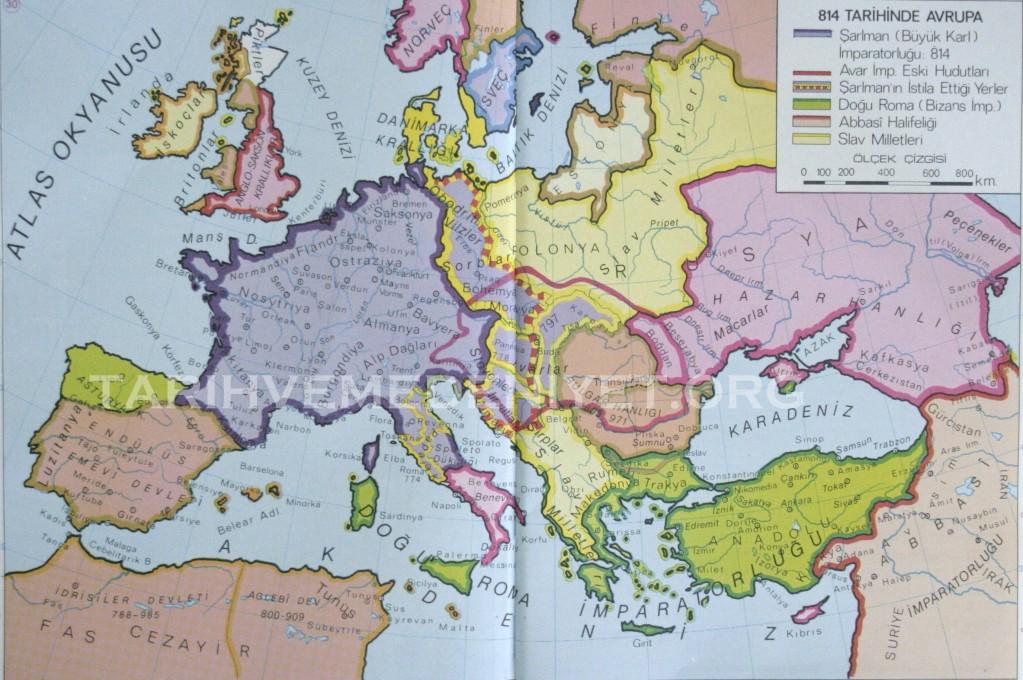 29Harita 814 Tarihinde Avrupa