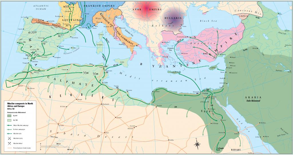 3- Kuzey Afrika ve Avrupada islam fetihleri