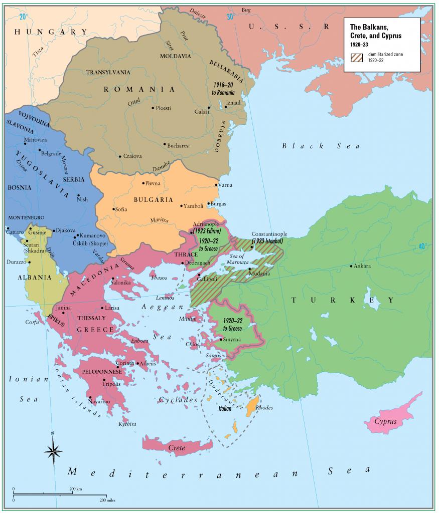 30- 1920 - 1923 Balkanlar Girit ve Kibris