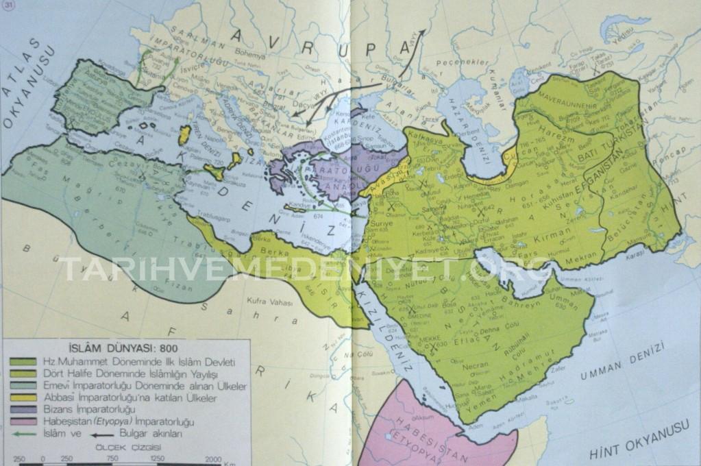 30Harita islam Dunyasi 800 de