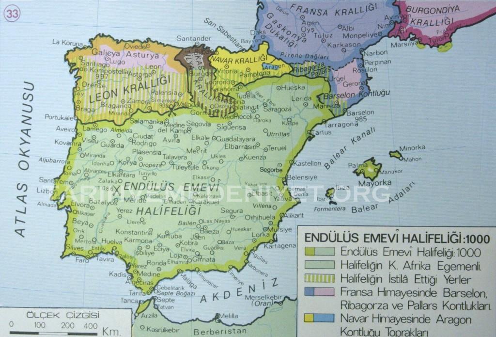 31b Harita Endulus Emevi Devleti 1000