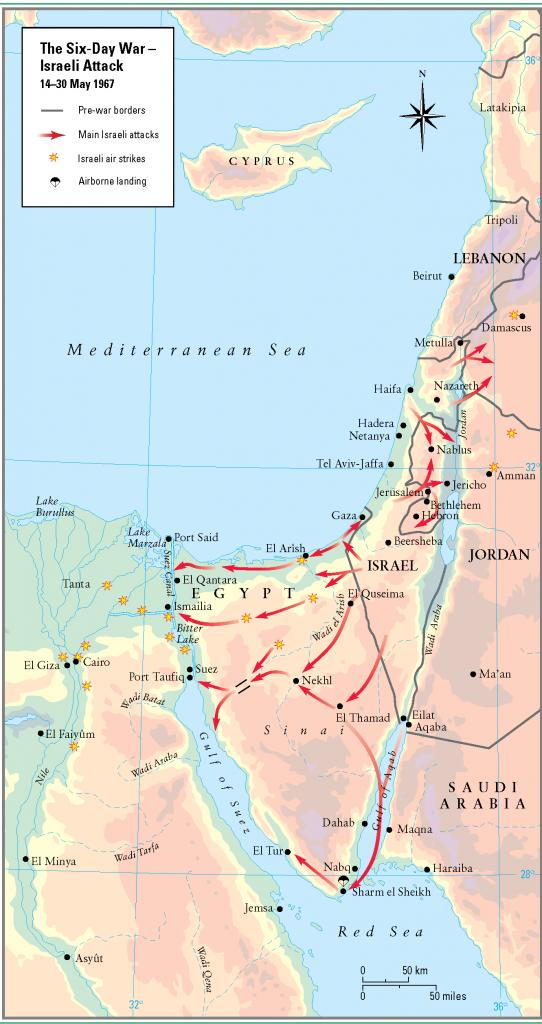 34- 1967 - 6 gun savaslarinda Israil saldirisi