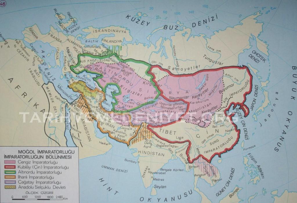 40Harita Mogol imparatorlugunun bolunmesi