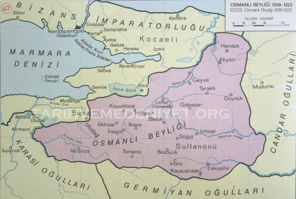 41Harita Osmanli Beyligi 1299-1323