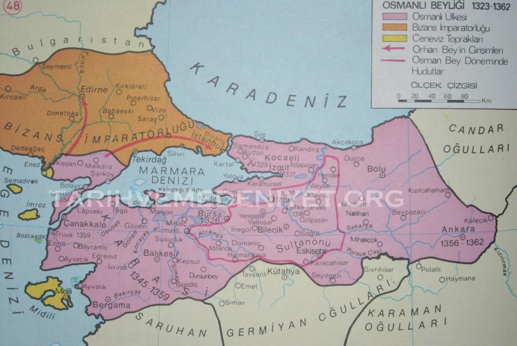42Harita Osmanli Beyligi 1323-1362
