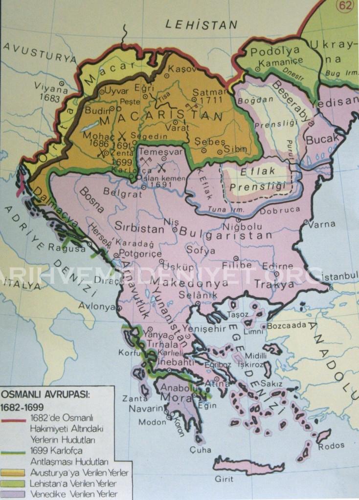 56Harita Osmanli Avrupasi 1682-1699