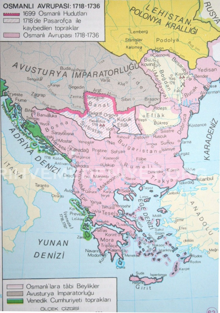 57Harita Osmanli Avrupasi 1718-1736