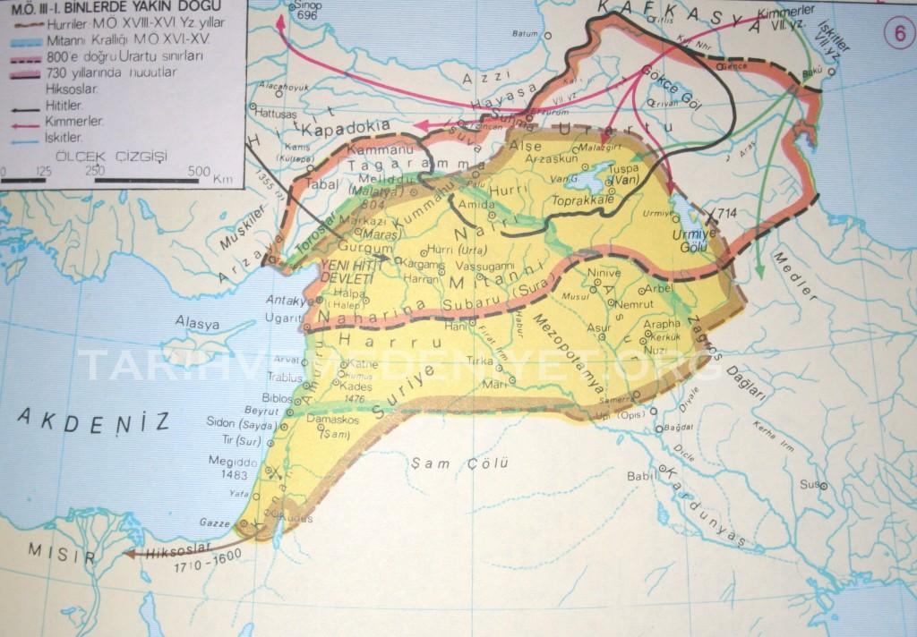 6 Harita Mo 3000-2000lerde yakin Dogu