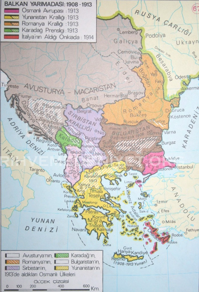 61Harita Balkan Yarimadasi 1908-1913