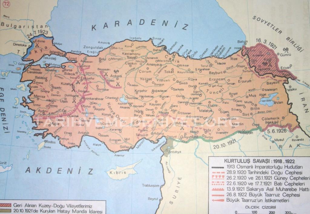 66Harita Kurtulus Savasi 1918-1922