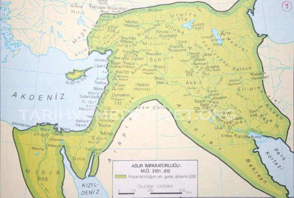 7 Harita Asur imparatorlugu mo 2105-612