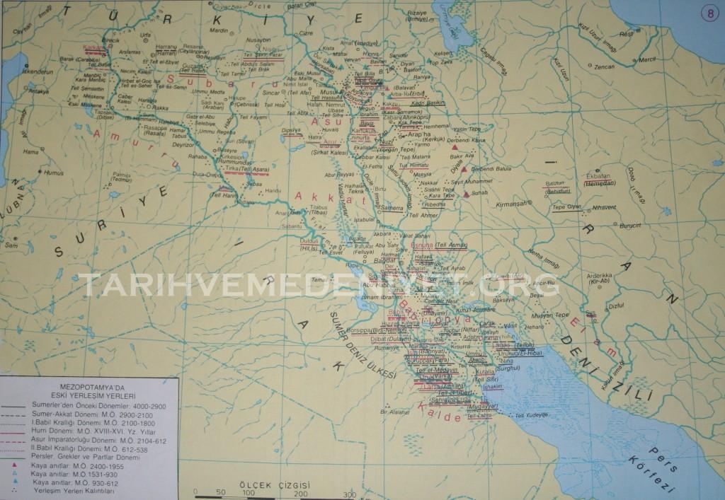 8 Harita Mezopotamya Eski Yerlesim Yerleri