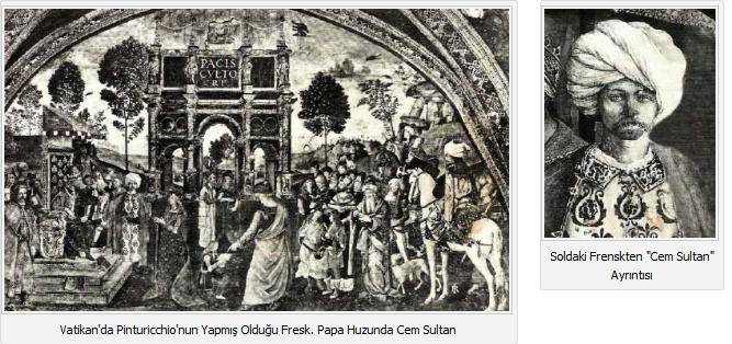 Papa huzurunda cem sultan