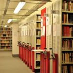 Kütüphane mahzenlerinden bir görünüm