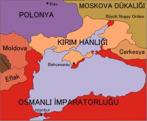 Kırım Hanlığı, 1475'ten 1774 yılında imzalanan Küçük Kaynarca Antlaşması'na imzalanışına kadar Osmanlı İmparatorluğu'na bağlı kaldı.