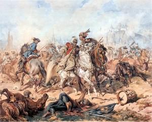 7-9 Ekim 1683 Ciğerdelen Muharebesi (Juliusz Kossak fırçasından)