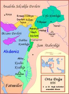 I. ve II. Haçlı seferleri arası Anadolu, Suriye ve Filistin