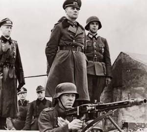 Rommel, Fransa cephesinde Yedinci Birliği denetlerken